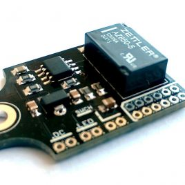 True-bypass relay module with momentary switch for mods